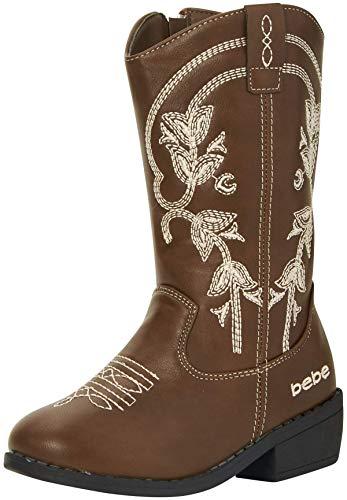 bebe Girls Western Cowboy Boot with Easy Side Zipper