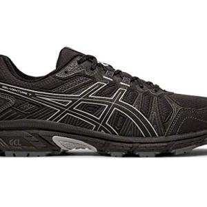 ASICS Men's Gel-Venture 7 Running Shoes, 12M, Black/Sheet Rock