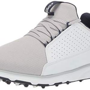 Skechers Men's Mojo Waterproof Golf Shoe, White/Gray Textile