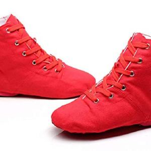 NLeahershoe Dance Shoes Lace up Jazz Danceing Boot Shoes