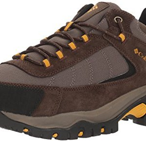 Columbia Men's Granite Ridge Hiking Shoe, Mud, Golden Yellow, 8 D US