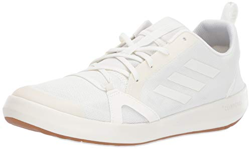 adidas Men's Terrex CC Boat Water Shoe, Non-Dyed/Chalk White/Grey