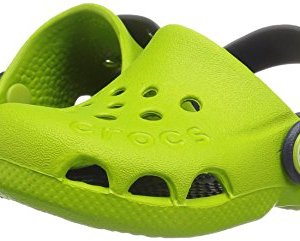 Crocs Crocband Fun Lab Light-Up Clog, volt green/navy