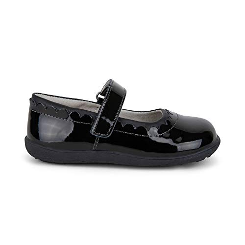 See Kai Run - Jane II Mary Jane Shoes for Kids, Black Patent