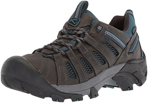 KEEN Men's Voyageur-M Hiking Shoe, Alcatraz/Legion Blue, 9.5 M US