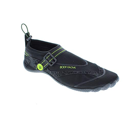 Body Glove Men's Realm Water Shoe, Black/NEON Yellow