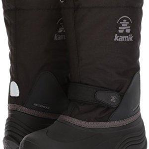Kamik Girls' Waterbug5 Snow Boot, Black/Charcoal