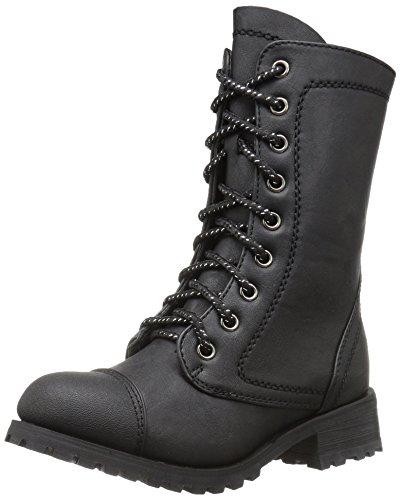 Gia Mia Dancewear Girls Classic Combat Boot, Black, 4C Medium