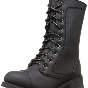 Gia Mia Dancewear Girls Classic Combat Boot, Black, 4C Medium
