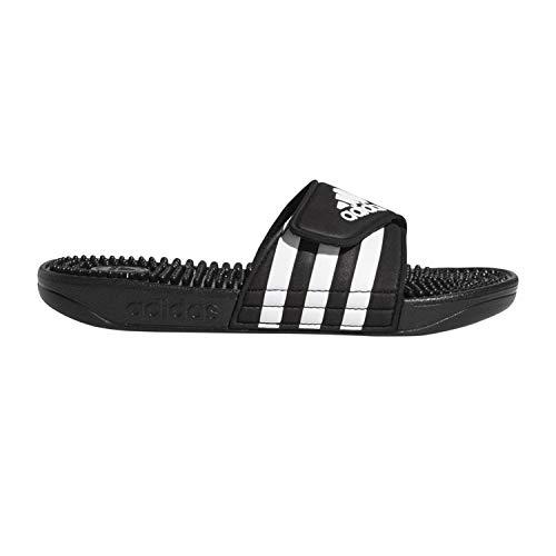 adidas Unisex Adissage, White/Black