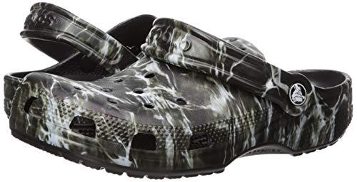Crocs Unisex Classic Mossy Oak Elements Clog, Black, 5 M US Big Kid