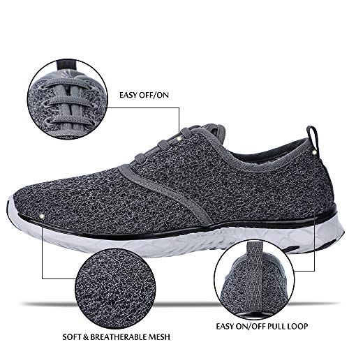 ALEADER Men's Stylish Quick Drying Water Shoes Gray