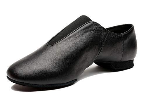Mrsdressshop Unisex Leather Upper Jazz Ballet Dancing Shoes Slip-on