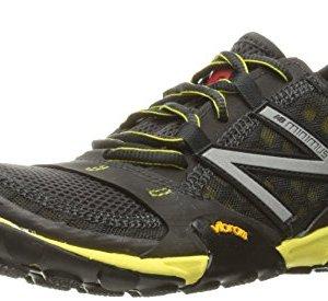 New Balance Men's MT10V1 Minimus Trail Running Shoe, Grey/Yellow, 10 2E US
