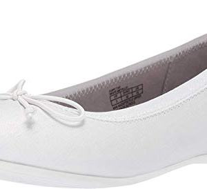 Kenneth Cole REACTION Girls Copy Tap Slip, White Metallic