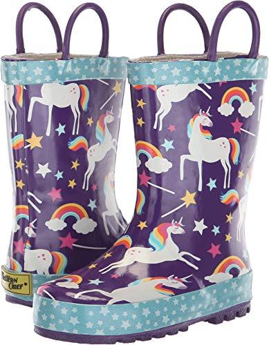 Western Chief Kids Girls' Waterproof Printed Rain Boot with Easy Pull on Handles