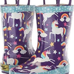 Western Chief Kids Girls' Waterproof Printed Rain Boot with Easy Pull on Handles