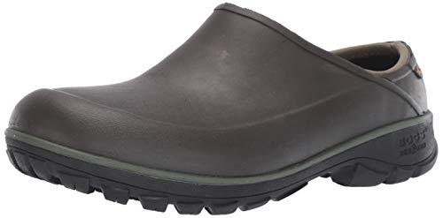BOGS Men's Sauvie Clog Waterproof Rain Shoe, Brown, 11