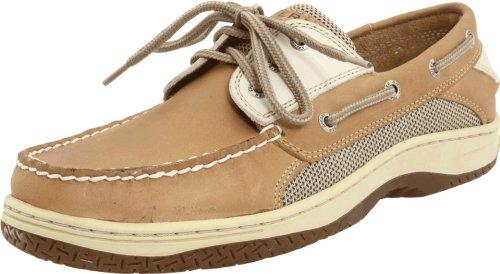 Sperry Mens Billfish 3-Eye Boat Shoe, Tan/Beige