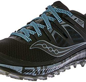 Saucony Men's Peregrine ISO Trail Running Shoe, Black/Grey, 9 W US