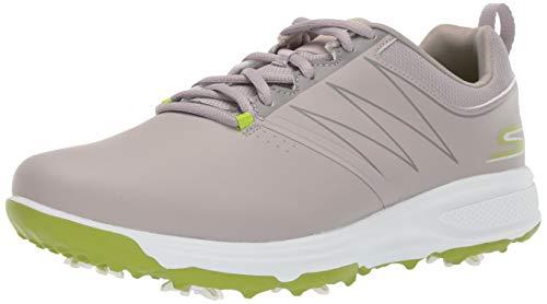 Skechers Men's Torque Waterproof Golf Shoe, Gray/Lime