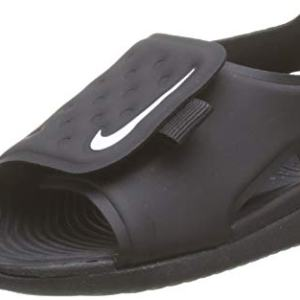 Nike Boy's Sunray Adjust 5 Toddler Sandal, Black/White