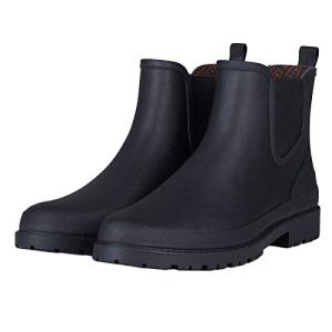 UNICARE Men's Chelsea Rain Boots Waterproof Slip on Shoes Nonslip Short Ankle
