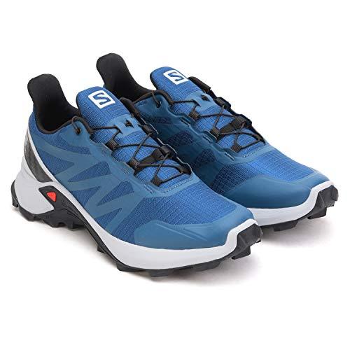 Salomon Men's Supercross Trail Running Shoes, Poseidon/Pearl Blue/Black