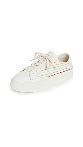 Soludos Quilted Stripe Sneaker White