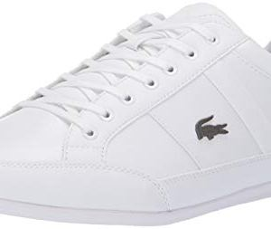 Lacoste Mens Chaymon Sneaker, White/White