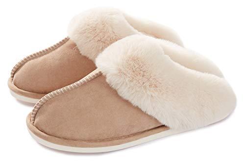 Memory Foam Fluffy Soft Warm Slip On House Slippers