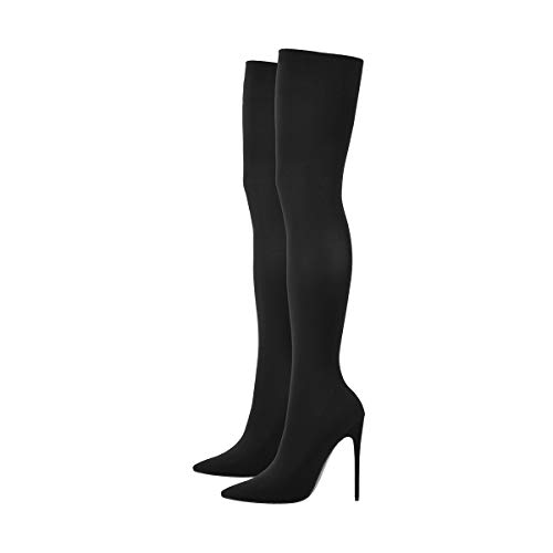 Over The Knee Stockings Boots Pointed Toe Stretch Sock