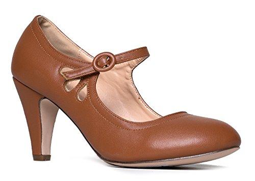 J. Adams Pixie Heels - Vintage Retro Round Toe Shoe