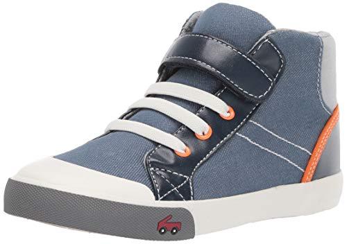 See Kai Run Boy's Dane Sneaker, Blue/Orange