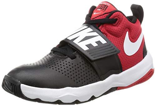 Nike Kids' Team Hustle D 8 (GS) Sneaker, Black/White