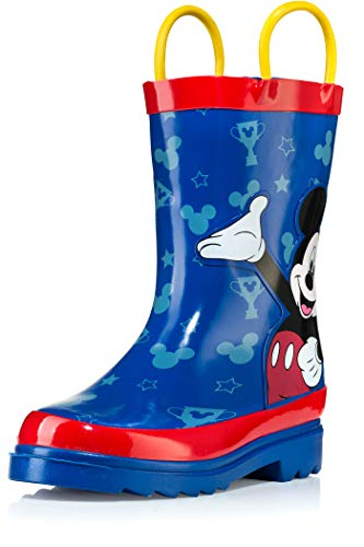 Disney Mickey Mouse Blue and Red Rain Boots