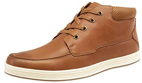 JOUSEN Men's Casual Shoes Brown High Top Fashion