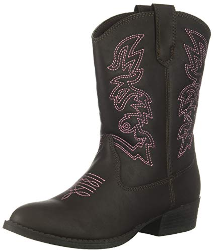 Kid's Ranch Pull On Western Cowboy Fashion Comfort Boot