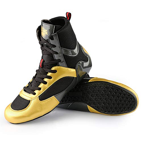 QIAO High Top Mens Wrestling Boxing Shoes