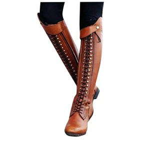 Lace up Over-The-Knee High Riding Boots for Women