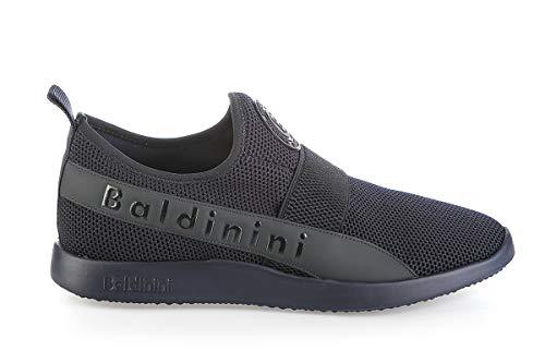 Baldinini Blue High Tech.Fabric Italian Desgner Men Sneakers