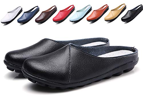 Women's Mules Slip-on Shoes Leather