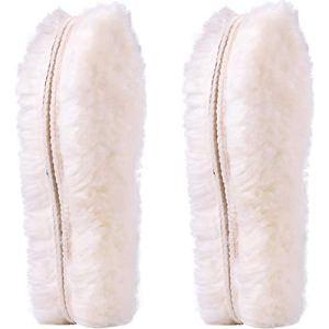 Ailaka 2 Pairs Women's Premium Thick Sheepskin Insoles/Inserts