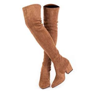 Thigh High Block Heel Boot Women
