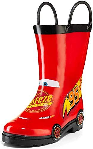 Disney Cars Kids Lightening Mcqueen Boys Waterproof Boots