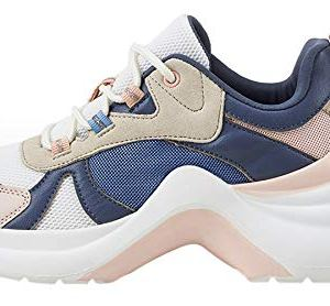 LUCKY STEP Women's Chunky Holographic Athletic Sneakers