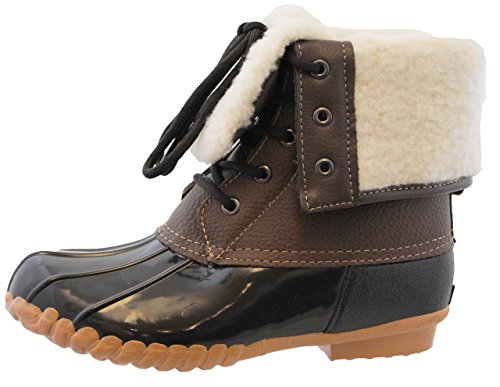 sporto Womens Duck Boots with Lace-Up Closure