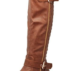 Cambridge Select Women's Quilted Side Zip Knee High