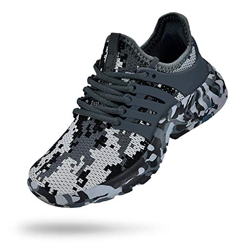Troadlop Boys Sneakers Lightweight Lace up Athletic Shoes