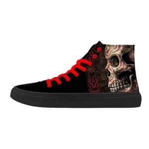 FIRST DANCE Skull Shoes for Men Fashion Sneaker